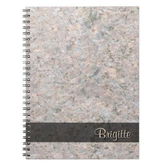 Textura da geologia da foto da rocha algum texto cadernos espiral
