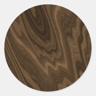 Textura da madeira de Brown escuro Adesivo