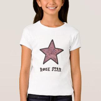 Textura da rocha da estrela do rock com texto tshirt