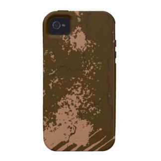 Textura de Brown Capa Para iPhone 4/4S