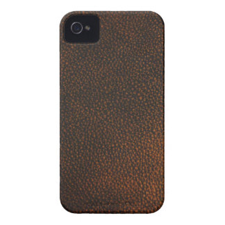 Textura de couro de Brown Capa Para iPhone 4 Case-Mate