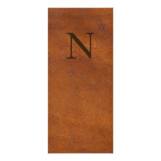 Textura de couro de Brown do falso 10.16 X 22.86cm Panfleto