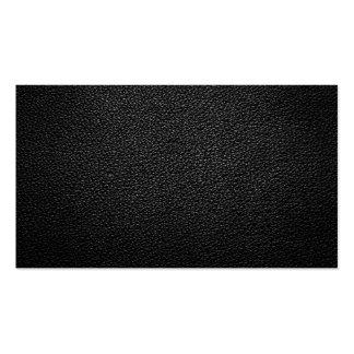 Textura de couro preta para o fundo cartão de visita