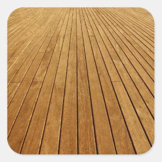 Textura de madeira adesivo quadrado