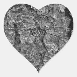 Textura de madeira adesivo coração
