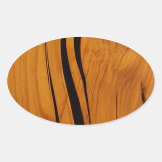 Textura de madeira adesivo oval