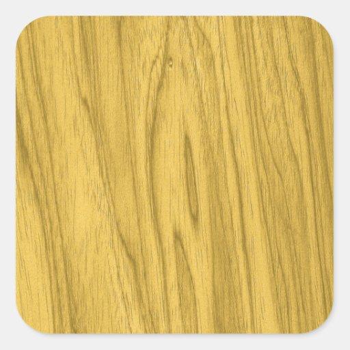 Textura de madeira amarela escura bonita adesivos quadrados