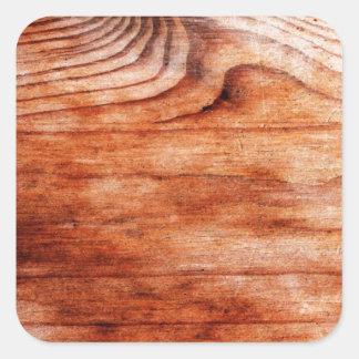 Textura de madeira artística adesivo quadrado