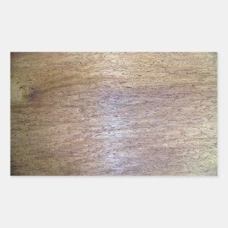 Textura de madeira adesivos retangulares