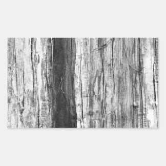Textura de madeira adesivo retangular