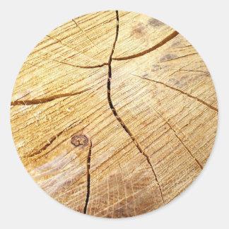 textura de madeira adesivo redondo