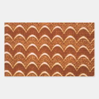 Textura de madeira adesivo retângular