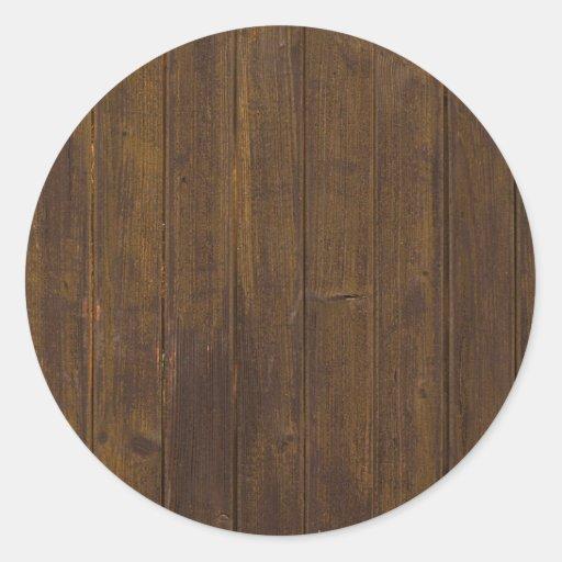 Textura de madeira adesivos redondos