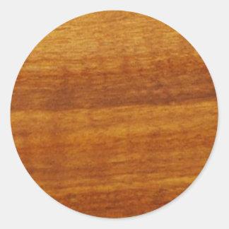 textura de madeira adesivo em formato redondo