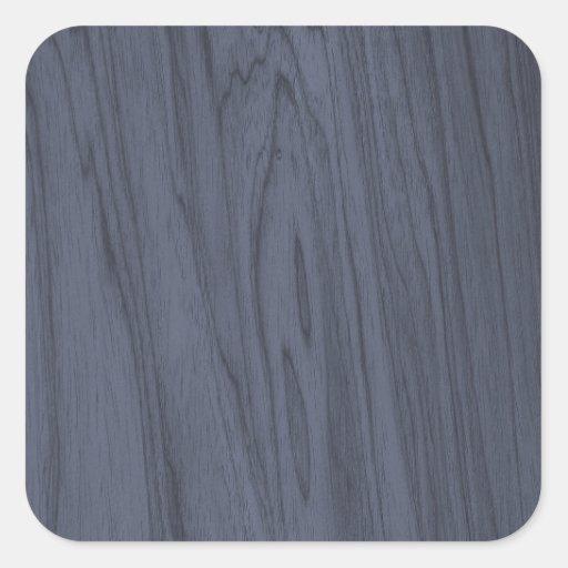 Textura de madeira azul bonita adesivos quadrados