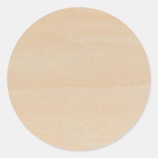 Textura de madeira clara adesivos redondos
