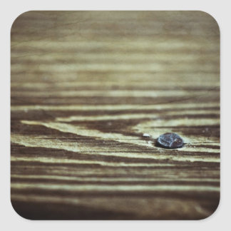 Textura de madeira da grão adesivo quadrado