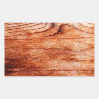 Textura de madeira da grão adesivo retangular