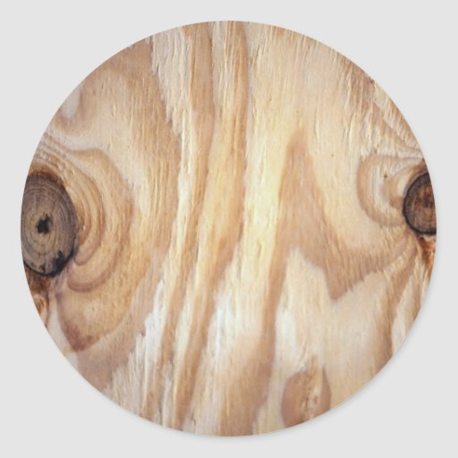 Textura de madeira da grão adesivos em formato redondos