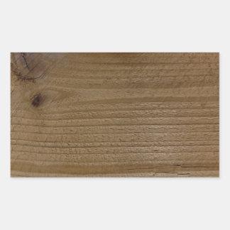 Textura de madeira da madeira nativa adesivo retangular