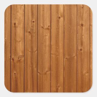Textura de madeira da parede adesivo quadrado