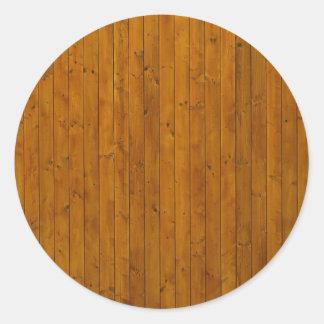 Textura de madeira da parede adesivos em formato redondos