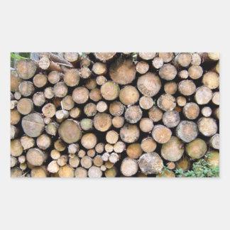 Textura de madeira desbastada adesivos em formato retangulares