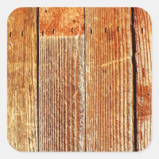 Textura de madeira do assoalho (da folhosa) adesivo quadrado
