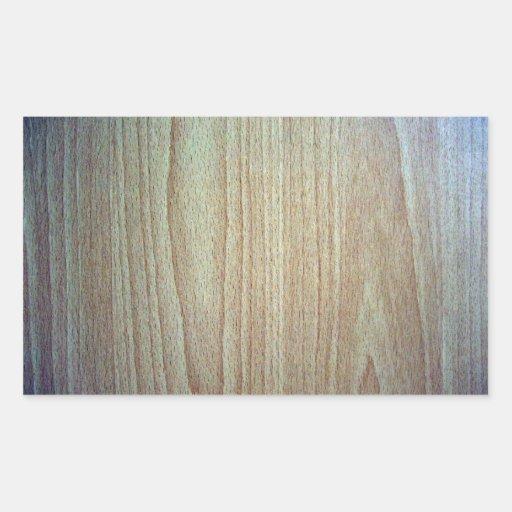 Textura de madeira do design da mobília adesivos em formato retangulares