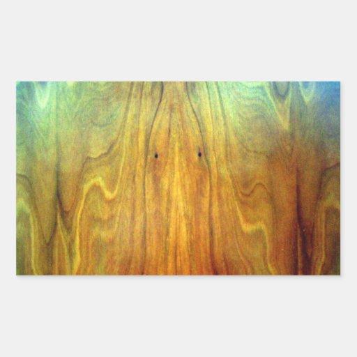 textura de madeira do design de interiores da mobí adesivos em forma retangular
