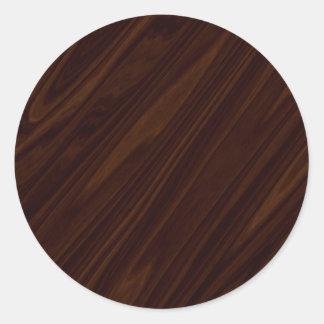 Textura de madeira escura adesivo