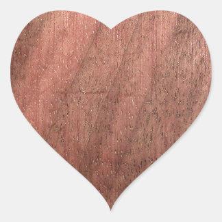 Textura de madeira escura adesivo coração