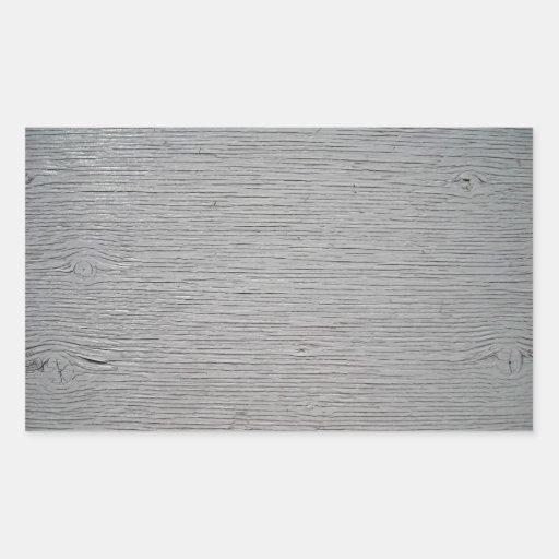 Textura de madeira knotty pintada adesivos em forma retangular
