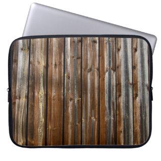 Textura de madeira legal capa de notebook