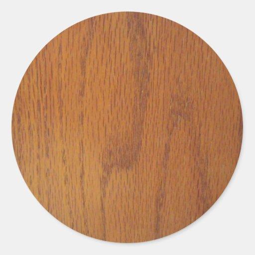 Textura de madeira morna da grão adesivo em formato redondo