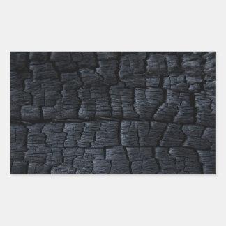 Textura de madeira queimada adesivo retangular