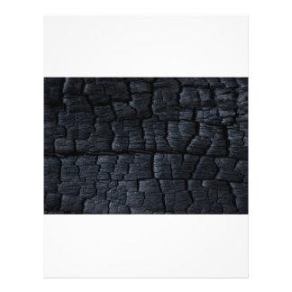 Textura de madeira queimada modelos de panfleto