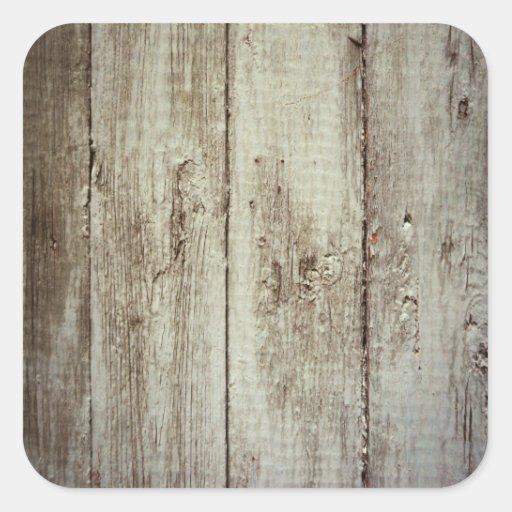 Textura de madeira rústica adesivos quadrados