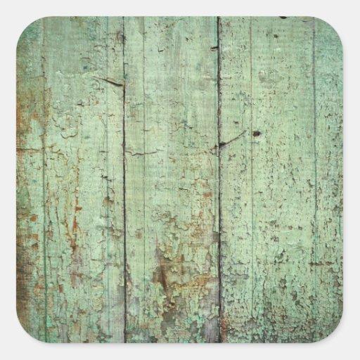 Textura de madeira rústica adesivo quadrado