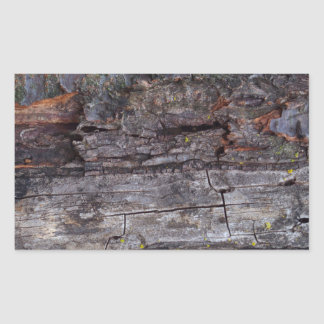 Textura de madeira torturada adesivos em formato retangulares