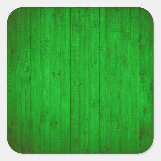 Textura de madeira verde adesivo quadrado