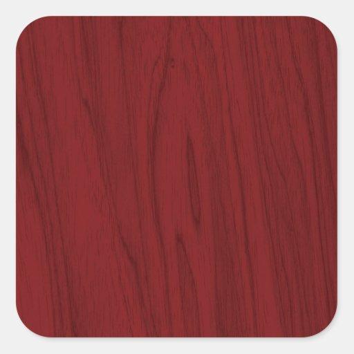 Textura de madeira vermelha bonita adesivo