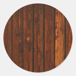 Textura de madeira vermelha da parede adesivo em formato redondo