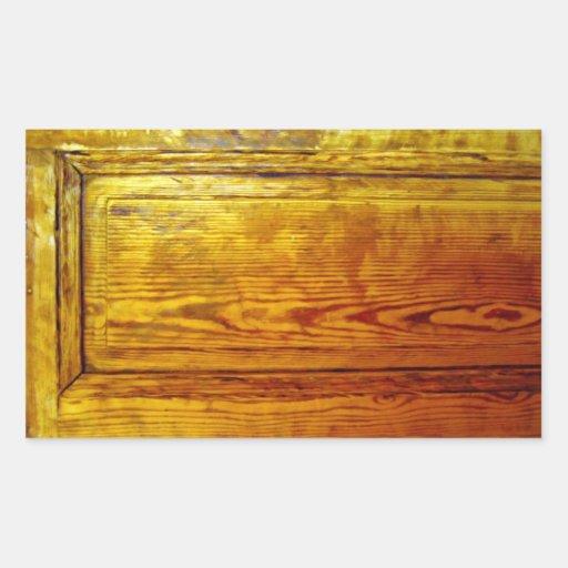 Textura de madeira vermelha do design de adesivo em forma retangular