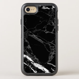 Textura de mármore preta de pedra elegante capa para iPhone 7 OtterBox symmetry