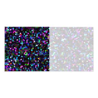 Textura de mosaico do cartão com fotos