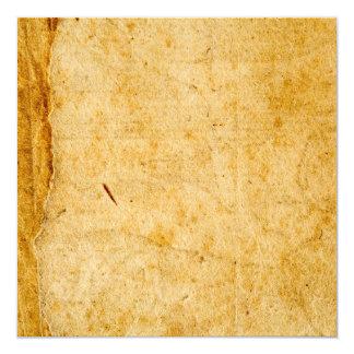 Textura de papel francesa antiga do fundo do convite quadrado 13.35 x 13.35cm