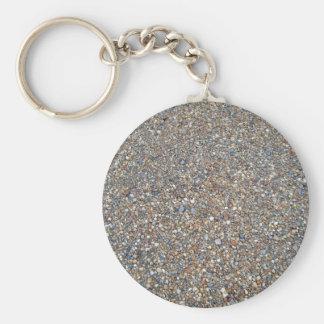 Textura de pedra do cascalho chaveiro