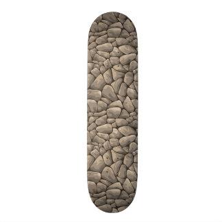 Textura de pedra dos desenhos animados shape de skate 20cm