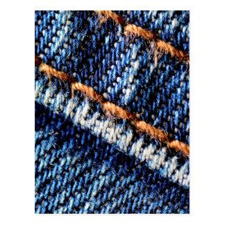 Textura do close up de calças de ganga cartão postal
